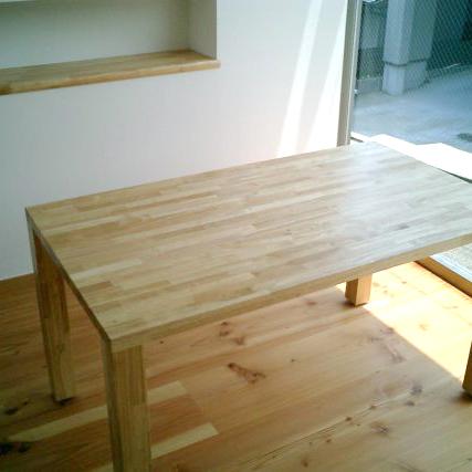 テーブル イースタンオーク積層材